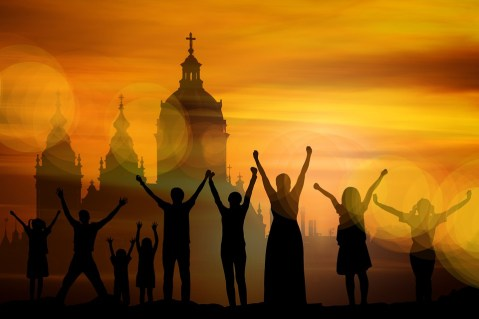 Család Templom Kereszt - Ingyenes kép a Pixabay-en