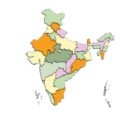 Map, India, Country, Geography, Location