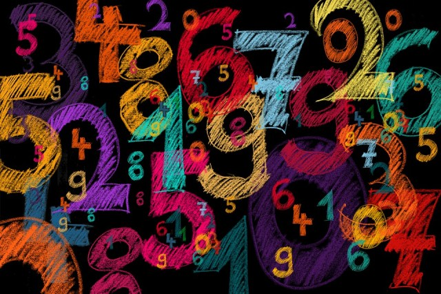 Background, Numbers, Counting Numbers, Digits, Colorful