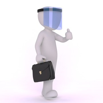 Face Shield, Protection, Businessman, Avatar, Icon