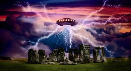 Alien, Ufo, Spaceship, Stonehenge