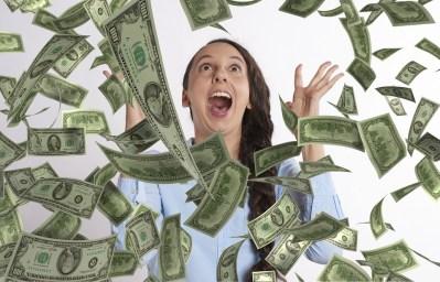 Woman, Happy, Winning, Lottery, Money, Rich, Jackpot