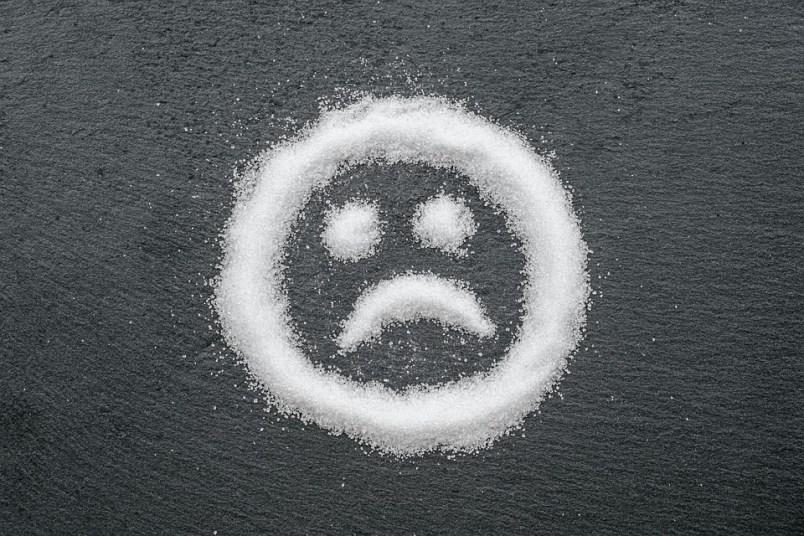 Sugar, Sweet, Smiley, Face, Sad, Calories, Unhealthy
