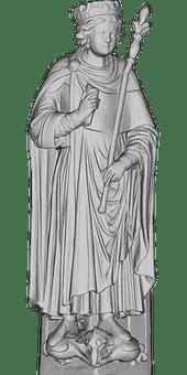 Solomon, Prophet, Statue, 3D, Biblical