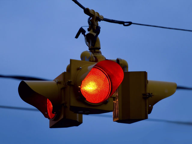 Flashing Red Light Means