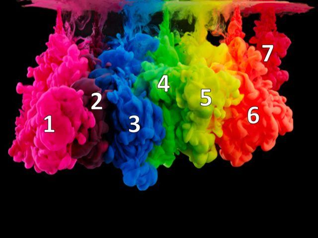 Quando você mistura as cores 4 e 7, você vê uma cor que se aproxima de qual?