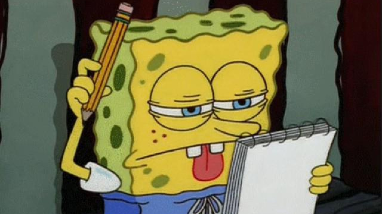 Image result for writing spongebob