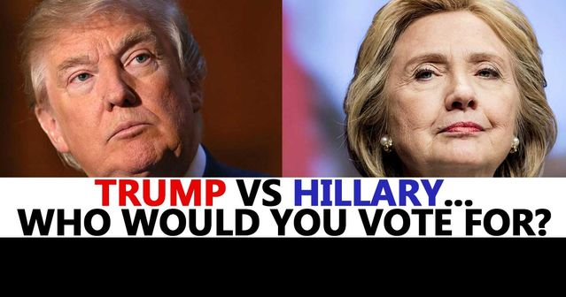 Image result for vote hillary or trump vote
