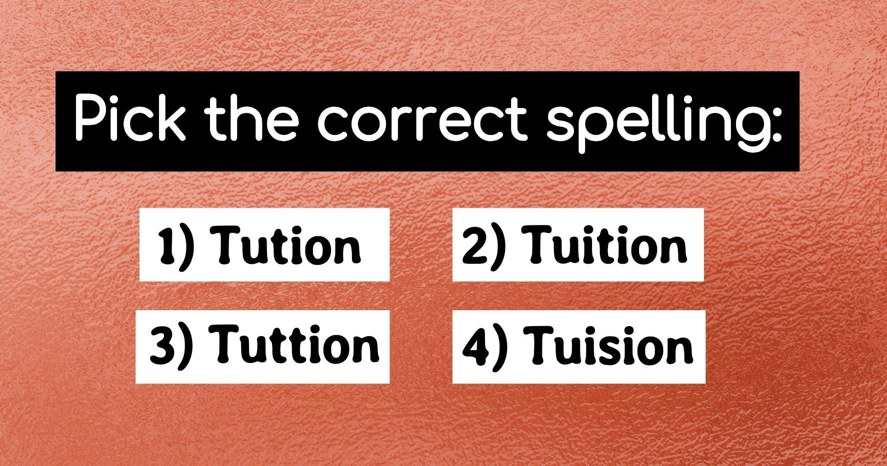 No One Can Pass This Confusing Spelling Test On The First Try