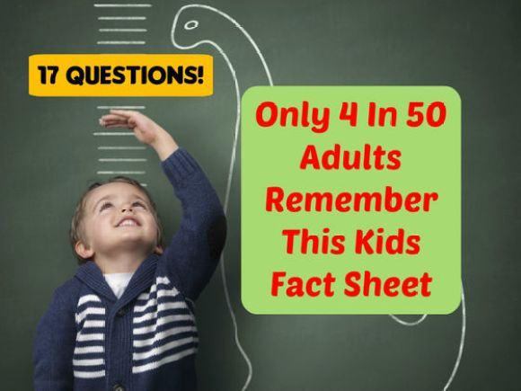 Only 4 In 50 Adults Remember This Kids Fact Sheet. Do You?