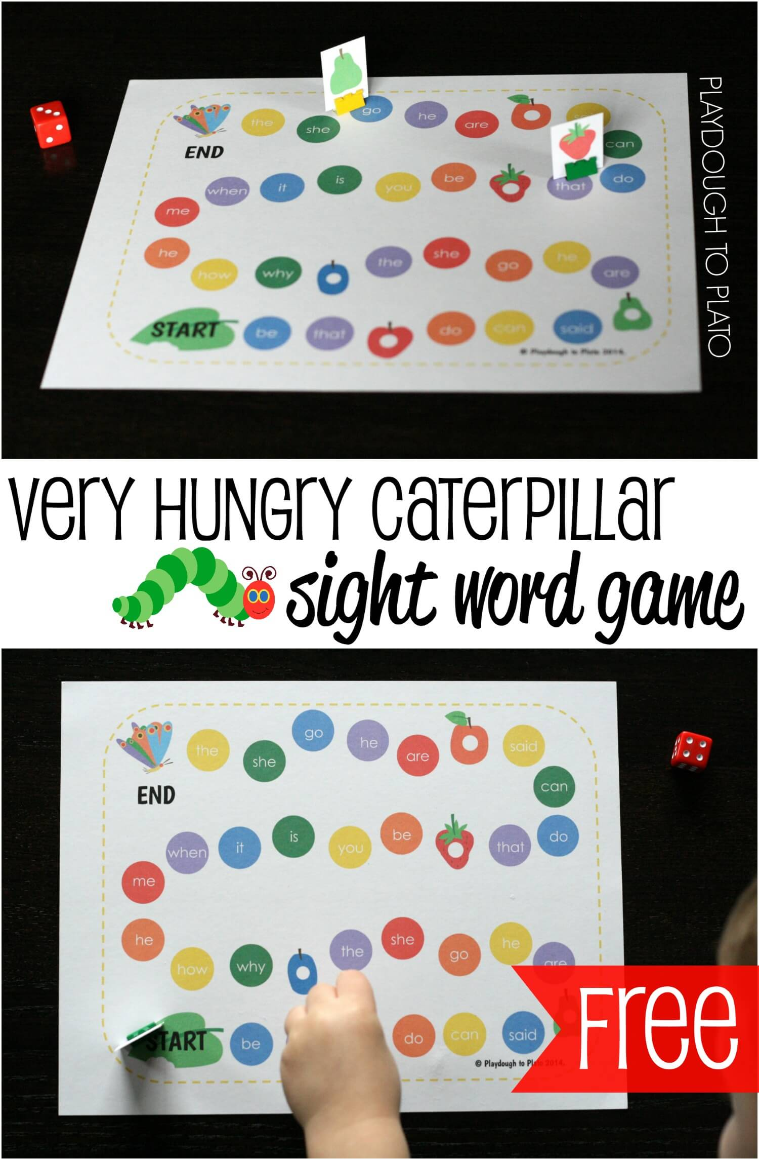 The Very Hungry Caterpillar Sight Word Game
