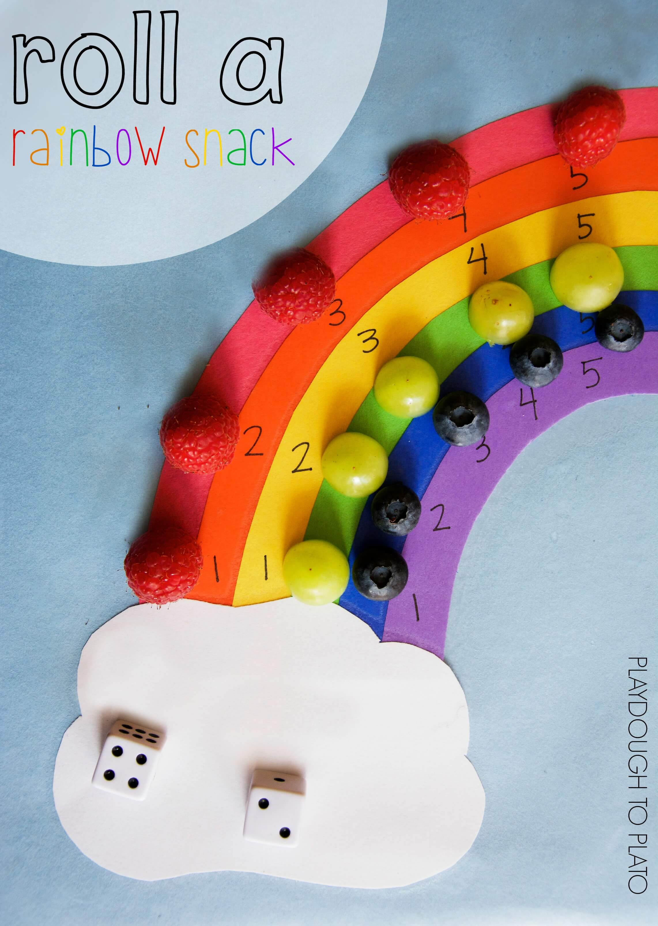 Roll A Rainbow Snack Game
