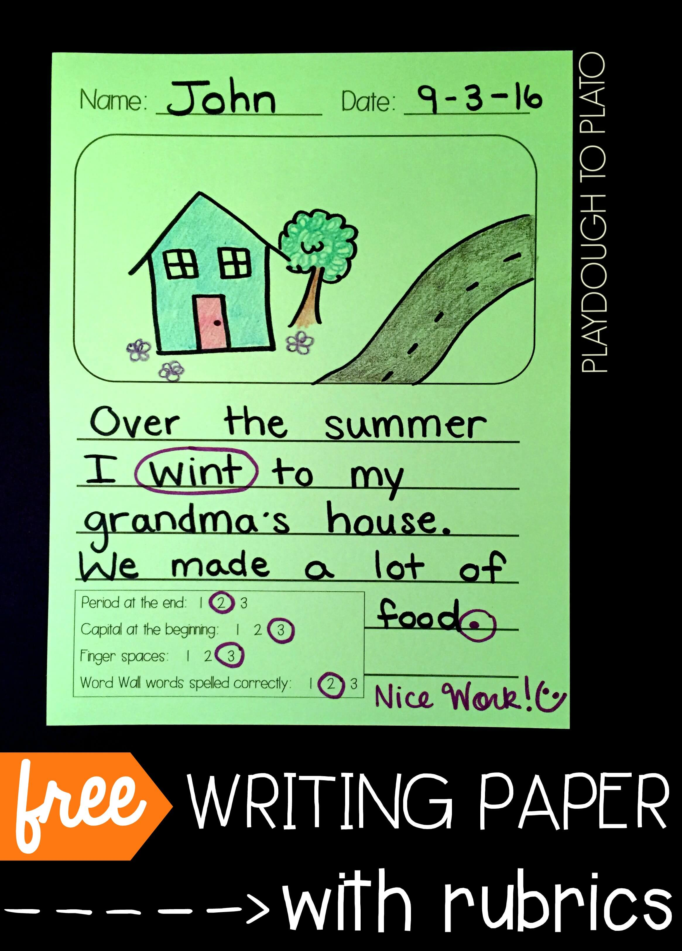 Free Writing Page Chinese Printables Printable Resources