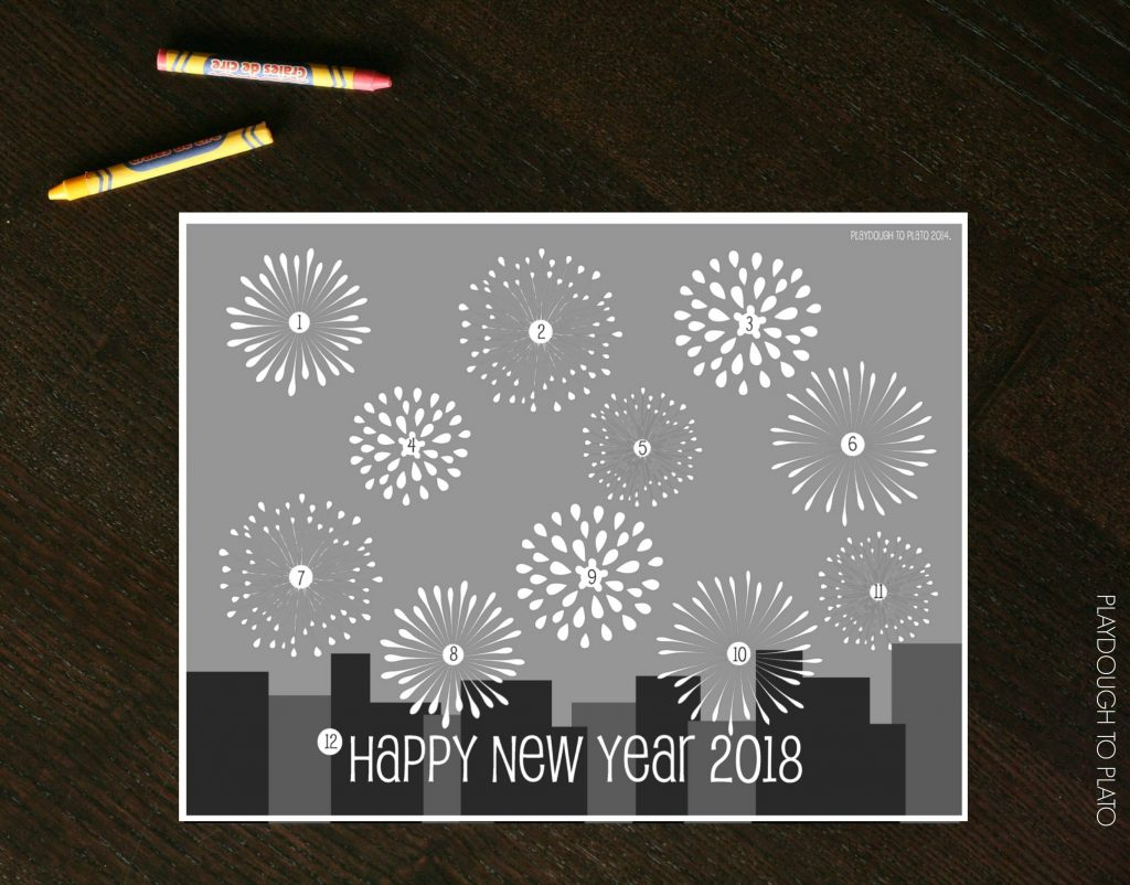 New Year S Eve Countdown Coloring Sheet