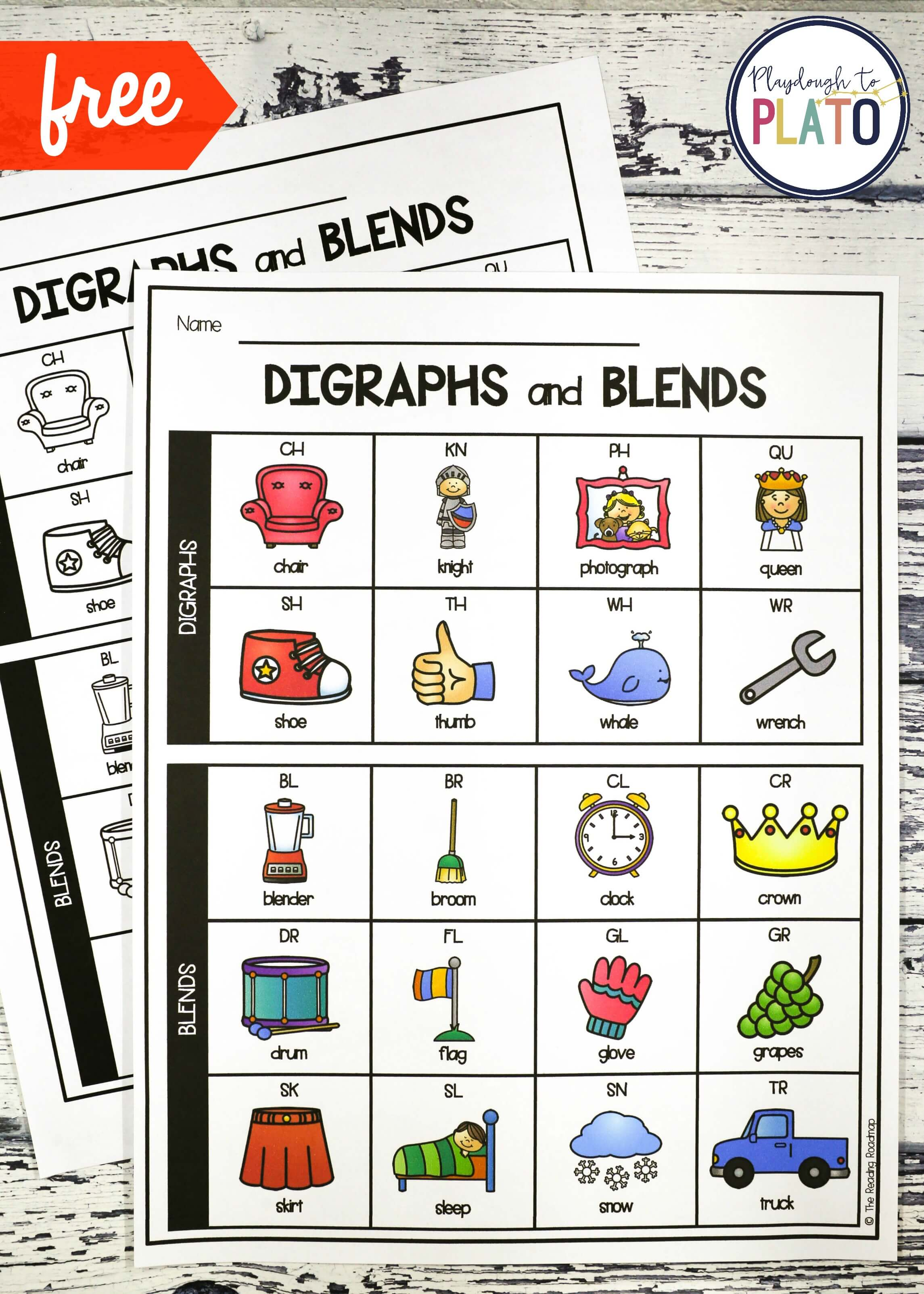 Digraph And Blend Chart
