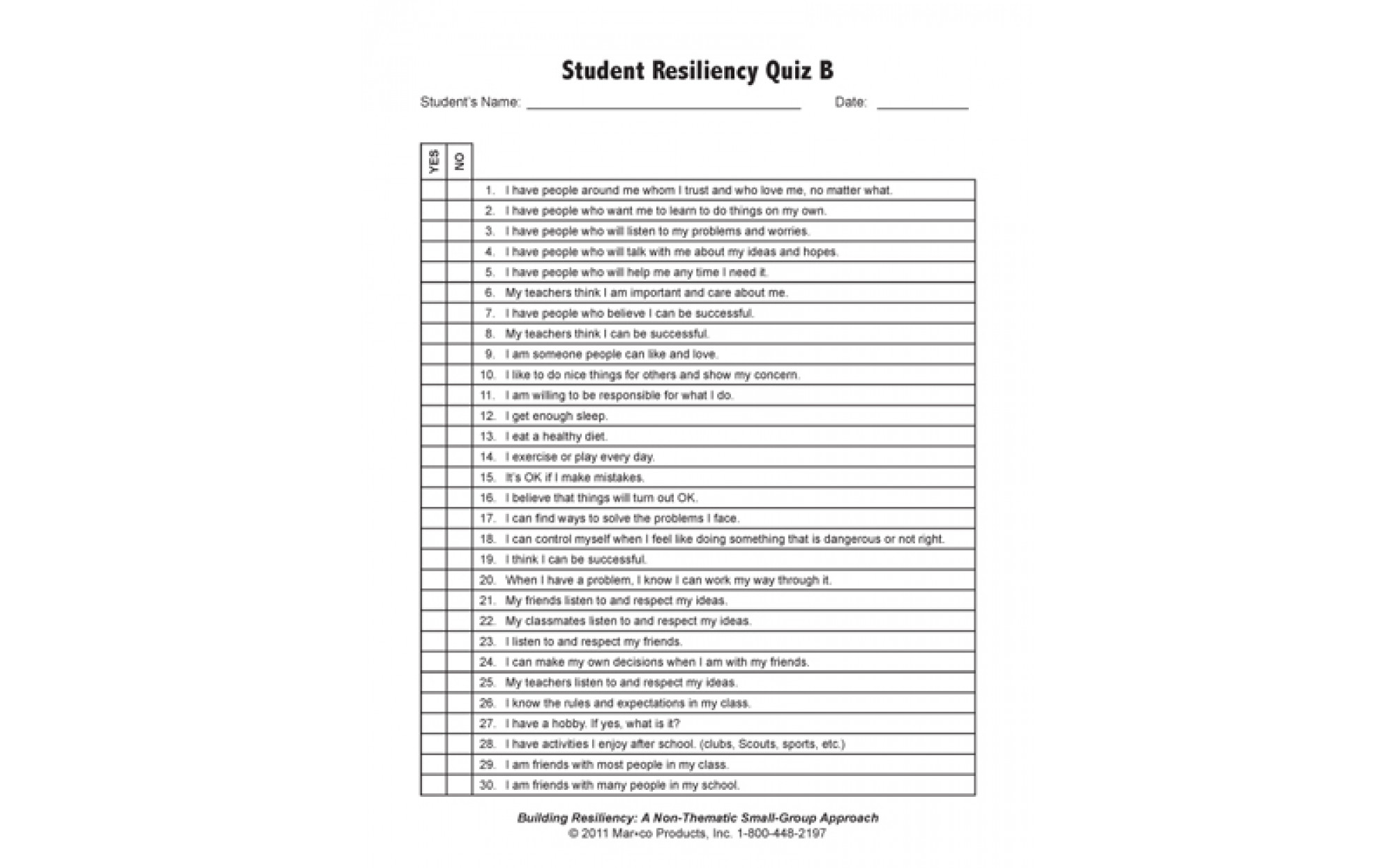 Building Resiliency A Non Thematic Small Group Approach