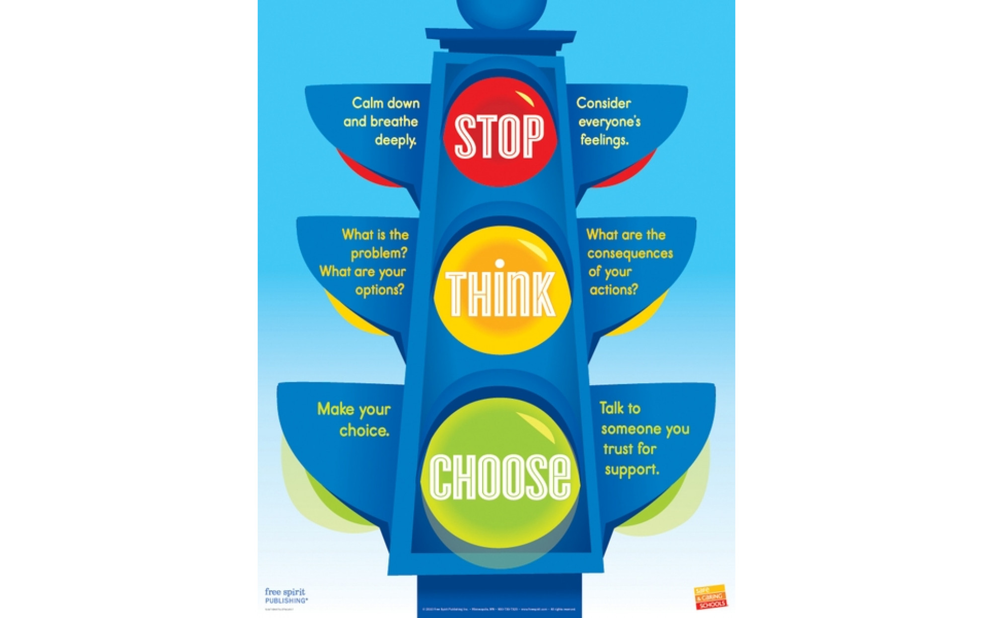 Stop Think Choose Poster Playroom Furnishings Posters