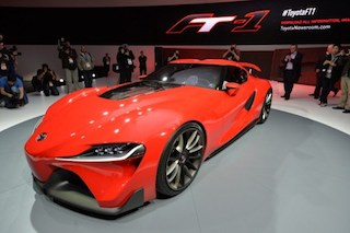Toyota FT-1 concept car: the front view