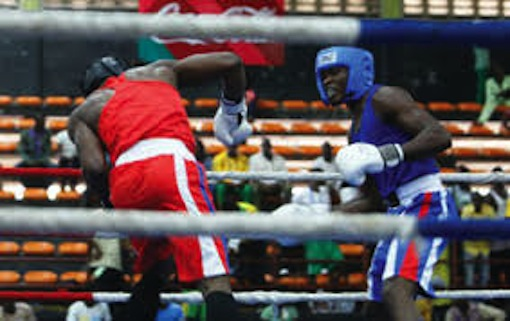 Action during Gotv Boxing Night