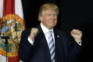 Victorious Donald Trump savouring victory in the US Presidential Election