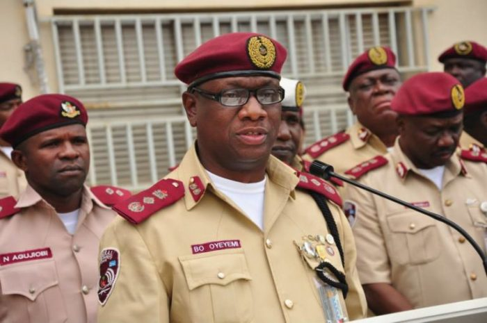 Boboye Oyeyemi, Corps Marshal, FRSC and other FRSC Officers.