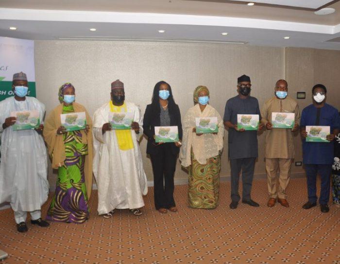 Book of states highlights the advantages of Lagos. Above NIPC Executive Secretary, Yewande Sadiku (4th Left)