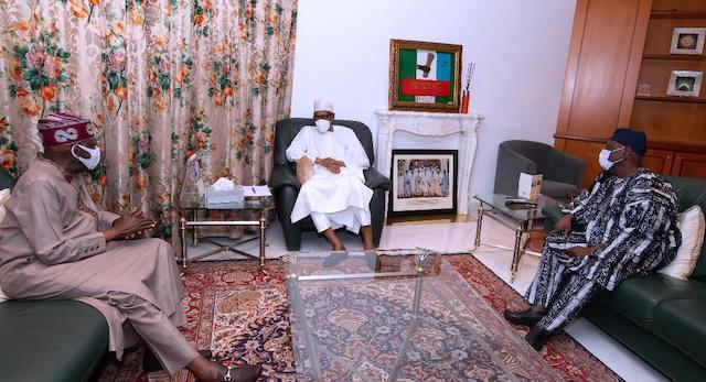Buhari, Tinubu and Akande settle down for talks