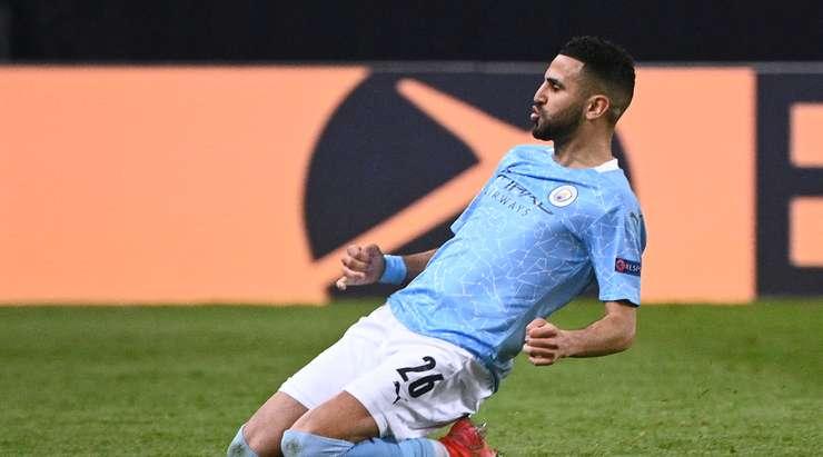 Marez celebrates his goal for Manchester City