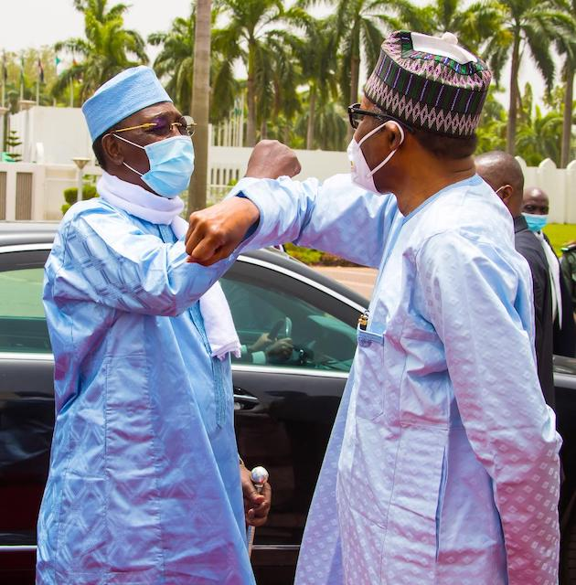 Deby in another elbow shake with Nigerian leader