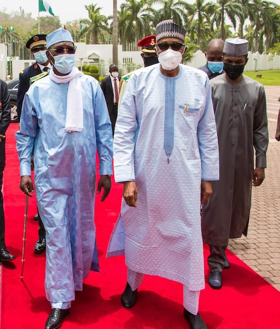 Deby welcomed to Aso Rock on 27 March for the last time