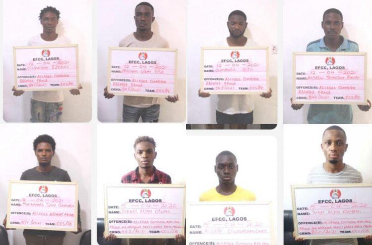 EFCC arrests 27 suspected internet fraudsters