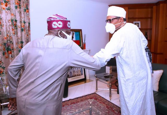 Elbow greeting: Buhari and Tinubu