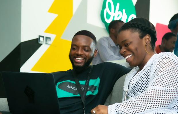 Founders of Okra: Fara Ashiru Jituboh and David Peterside