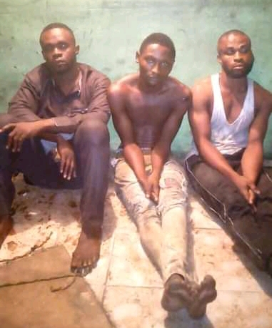 Suspected gang members apprehended in a robbery operation in Diobu, Port Harcourt.