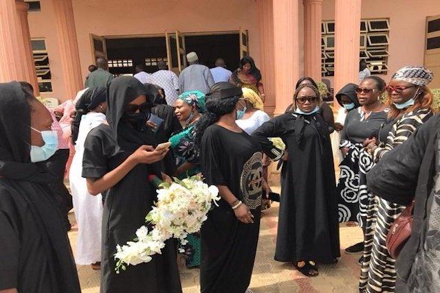 Mourners for Dorathy Yohanna at ECWA in Kaduna