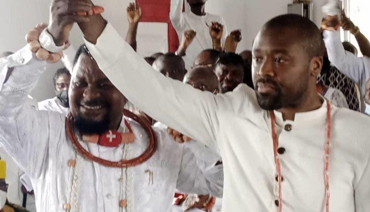 Olu of Warri-designate,  Tsola Emiko (right) is enmeshed in  kingship tussle capable of tearing the kingdom apart
