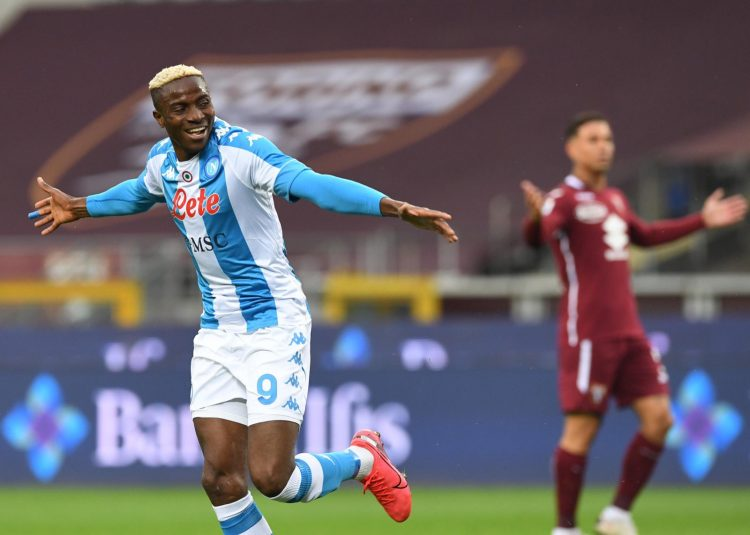 Victor Osimhen on target in Napoli's win