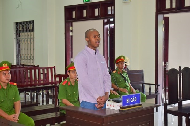Unachukwu Chiluba Paulinus sentenced to death in Vietnam for drug trafficking. Photo: Bao ve phap luat