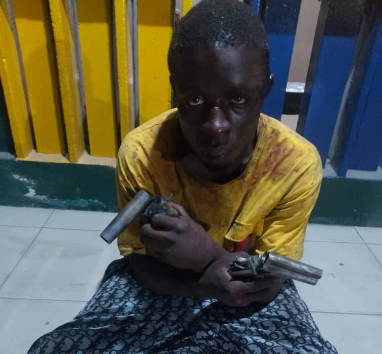 Samuel Ayooluwa arrested with two pistols