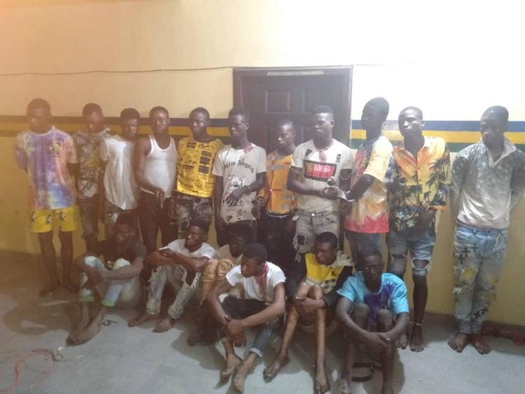 The suspected robbers arrested by the police