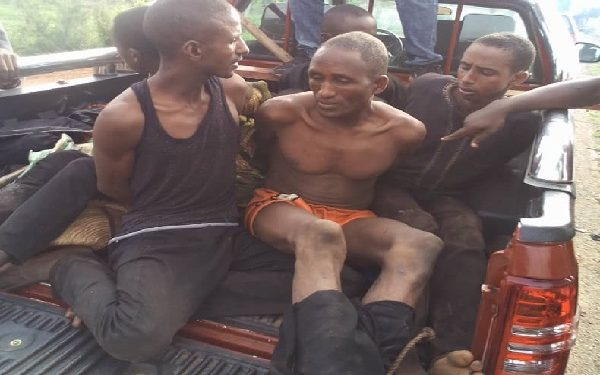 Some of the herdsmen- bandits picked up in Oyo state after mounting illegal roadblocks