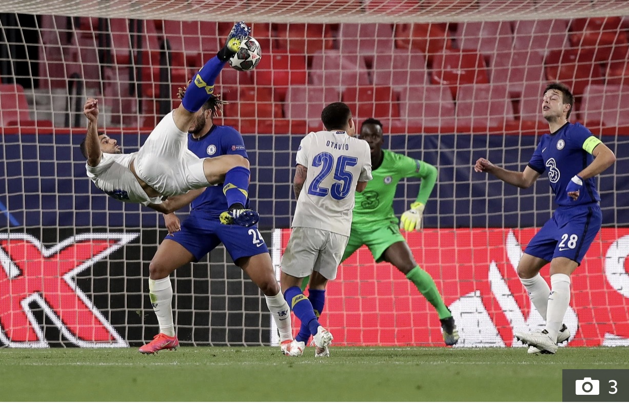 Taremi's bicycle kick that gave Chelsea's Mendy no chance