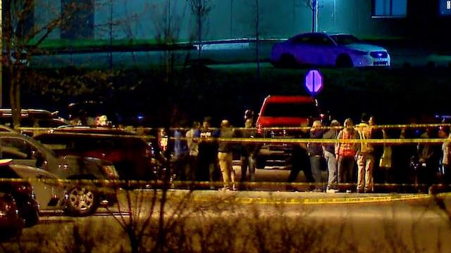 The scene of mass shooting at FEDEX Indianapolis site on Thursday night