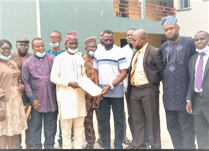 Surulere council chairman with the visiting academics