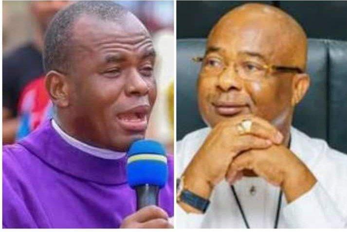 Rev. Father Ejike Mbaka and Gov. Hope Uzodinma