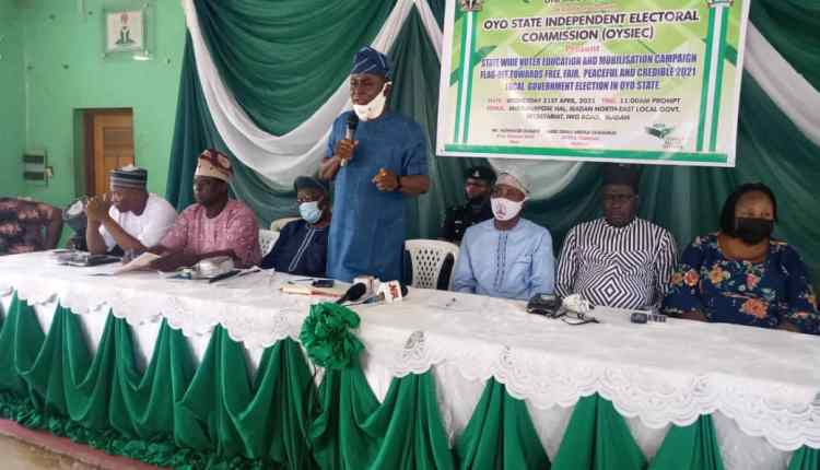 Members of the Oyo State Independent Electoral Commission (OYSIEC)
