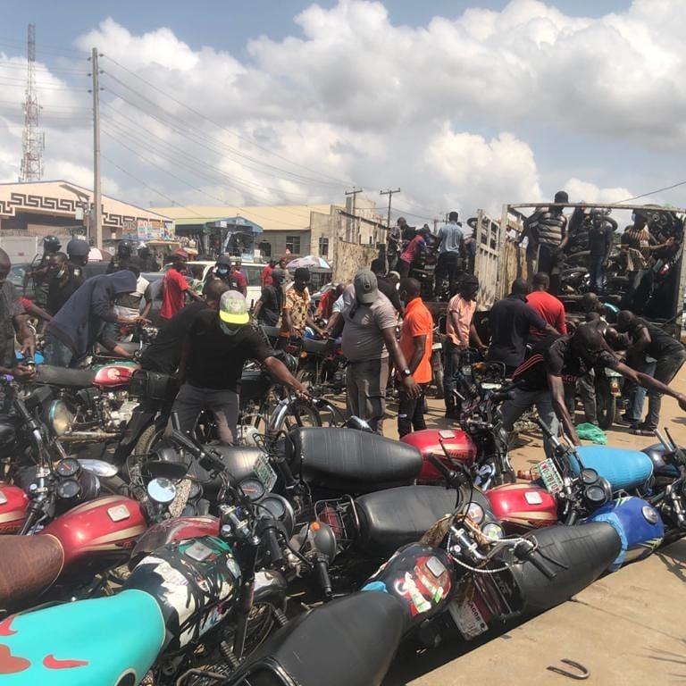 Taskforce impounds 92 bikes