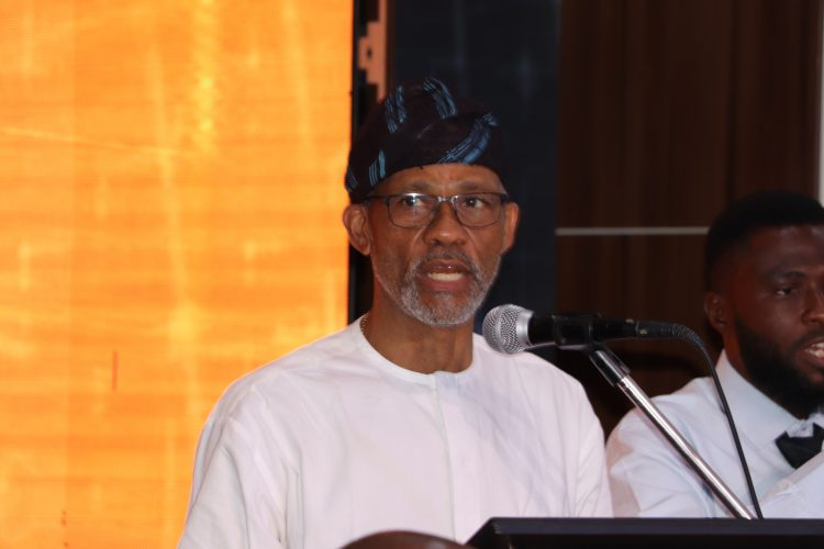 Abayomi while briefing the media at the event