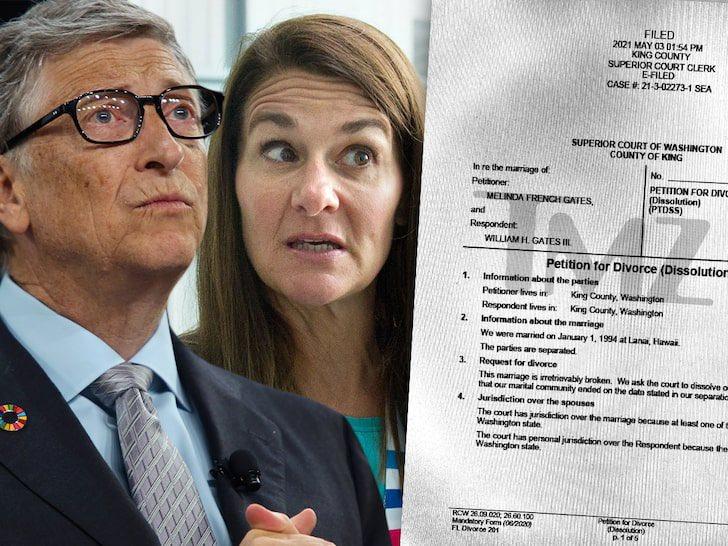 Bill Gates and Melinda Gates divorce document