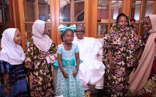 Buhari and the grandkids